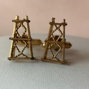 Vintage Countess Mara Oil Well Cufflinks Stamped